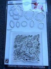 SIZZIX 9 FRAMELITS DIES 1 LARGE STAMP FLOWERS #5 PETALS LEAVES NEW SEALED