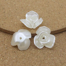 20pcs/lot 20*22mm ABS Pearl Beads White Flower Simulate Beads for Jewelry Making