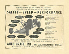 New!  Vintage Beautiful 1959 - 60 Auto Craft Go-Kart Ad