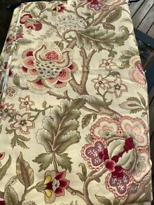 Waverly Antique Imperial Dress Jacobean Floral Drape Sateen Curtain Panel 84x50