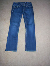 TRENDY SHARP MISS ME HEAVY STITCHED BOOT STYLE  DISTRESSED  JEANS SIZE 29