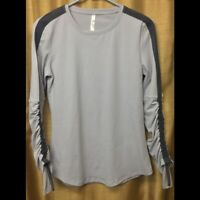 Fabletics Womens Gray Long Sleeve Top Size XS