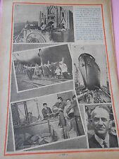 Spain Statue Christ Roi Tibidabo Paquebot Ville d'Alger Print 1935