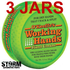 3 JARS - O'Keeffe's Working Hands Cream 3.4 oz Jar (96 g)