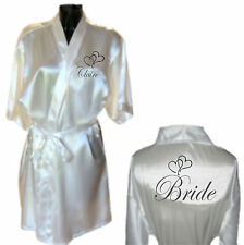 Personalised Heart Wedding Robe / Dressing Gown Gift Bride Bridesmaid Mother