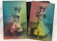 Early 1900s Postcards of Victorian Women Color Tinted American Postcard Germany