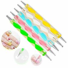 Woman Lady Girl 5PCS 2 Way Dotting Tool Set For Nail Art Manicure Pedicure Hot