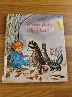 Whose Baby Is That?  A Whitman Tell-a-Tale Book  1969 Vintage illustrated kids