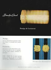 ▬► PUBLICITE ADVERTISING AD MONTRE WATCH BUECHE-GIROD Prestige exclusivité