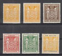 BJ6529/ NEW ZEALAND – POSTAL FISCAL – 1931 / 1958 MINT LOT – CV 160 $