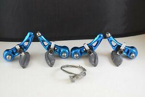 Vintage cantilever brake caliper Set anodized blue aluminium mtb nos