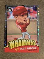 2018 Donruss Rhys Hoskins Whammy! SSP Rookie RC Philadelphia Phillies Case Hit
