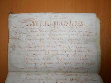 1664 signed antique manuscript 6 pages law legal vellum document handwritten