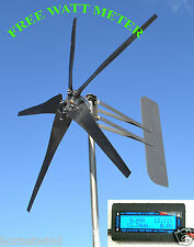 KT5 Wind Turbine LOW  5 Blade 1000W 24 volt DC 2 wire 3.75 kWh W/WATT