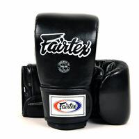 Fairtex TGT7 Cross-Trainer Bag Gloves Black Muay Thai Kick Boxing Training Pads