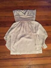0 BCBG Max Azria Tan Strapless Dress Textured Lined Gorgeous