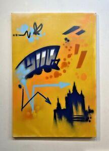 DONDI Painting on canvas - DONDI WHITE PAINTING - graffiti NYC