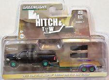 Greenlight 2015 Ram 1500 Mopar Edition And Flat Bed Trailer Green Machine