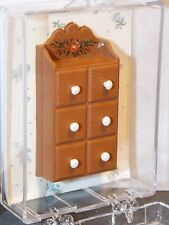 Dollhouse Miniature Kitchen Spice Chest by Chrysnbon 1:12 one inch scale  E20