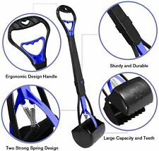 """TIMINGILA 28"""" Long Handle Pet Pooper Scooper for Dogs and Cats - BLUE"""