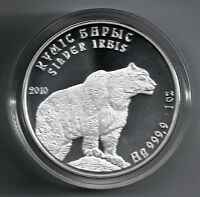 Kasachstan 2010 Schneeleopard - Irbis 1 Tenge 1 Unze Silber BU max. 5.000Ex.!