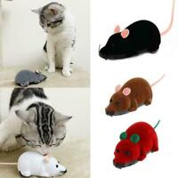 Funny Electronic Mouse Toy Remote Control Pet Cat Interactive Wireless W4Y0