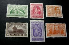 New Zealand Stamp Scott# 165-170  King George V, Lion and etc. 1920  MH C548
