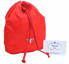 Authentic PRADA Nylon Pouch Red A4517