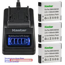 Kastar Battery LCD Quick Charger for DMW-BCM13 BCM13E Panasonic Lumix DMC-ZS50K