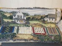 """Manual Woodworkers and Weavers Country Quilts Tapestry Throw Blanket 64"""" x 50"""""""