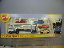 "CORGI JUNIOR GIFT SET MODEL "" No.3105   TRANSPORTER WITH 4 CARS            MIB"