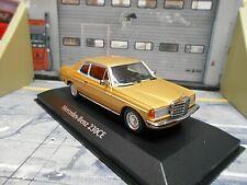 MERCEDES BENZ W123 C123 Coupe 230 E Klasse gold 1976 Minichamps Maxichamps 1:43
