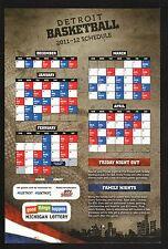 Detroit Pistons--2011-12 Magnet Schedule