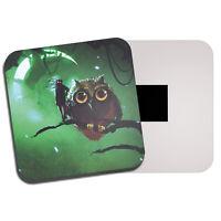 Spooky Owl Fridge Magnet - Green Glow Moon Fantasy Teen Night Cool Gift #14111