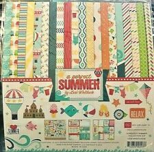"Echo Park 12""x 12"" A PERFECT SUMMER collection kit~Beautiful! Quick Ship!"