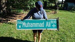 Muhammad Ali Original Authentic Street Sign