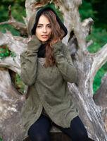 Hooded Hippie Cardigan Jacket Boho Psytrance Clothing