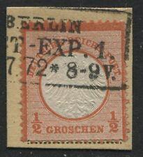 Germany 1872 Imperial Eagle 1/2 groschen orange Berlin cancel used  (JD)