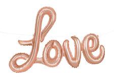 "Wedding/Valentine's Day Rose Gold Love Script 36"" Foil Balloon Letter Banner"