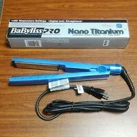 "BaBylissPro  Nano Titanium 1-1/4"" 450F IONIC HAIR Flat Iron Ultra Thin BRAND NEW"