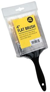 """Job Done 4"""" Inch Flat Paint Brush Synthetic Wall Emulsion Water Based (JBPT002)"""