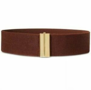 $38.00 Lauren Ralph Lauren Interlock Stretch Belt, Brown, Size S