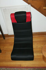 X Rocker Folding Gaming Chair Black Red PS4 XBOX PC High Quality Speakers