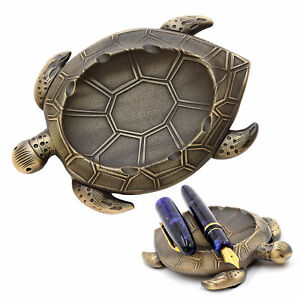 "Esterbrook ""Patience the Turtle"" Brass Pen Rest/ Pen Holder- NEW in Original Box"