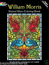 William Morris Stained Glass Adult Colouring Book Arts Crafts Victorian Creative