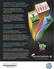 Marketsplash and HP Brochure and flyer Glossy White 50 Pages  NWOT CM758-90002
