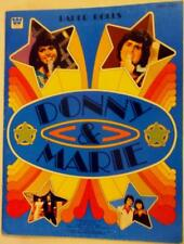 """New listing 1977 """"Donny and Marie"""" Paper Doll Book 10 x 12.75 inch Lot 153"""