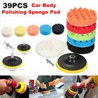 39Pcs Buffing Sponge Pads Kit for Car Trucks Polisher Waxing Polishing Machine
