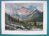 ITALY Alps Carbonin Schluderbach Trentino Alto Adige - COLOR VICTORIAN Era Print