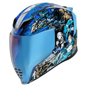 Icon Blue Airflite 4Horsemen Full Face Motorcycle Helmet - New Spring 2021
